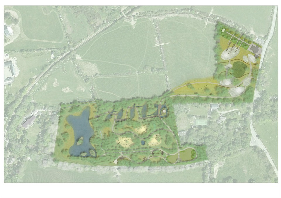 Overall plan of proposed New Zealand ecological gardens.