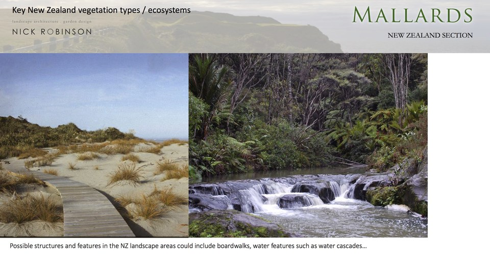 Some structures and other features such as river crossings are emblematic of the nz bush experience